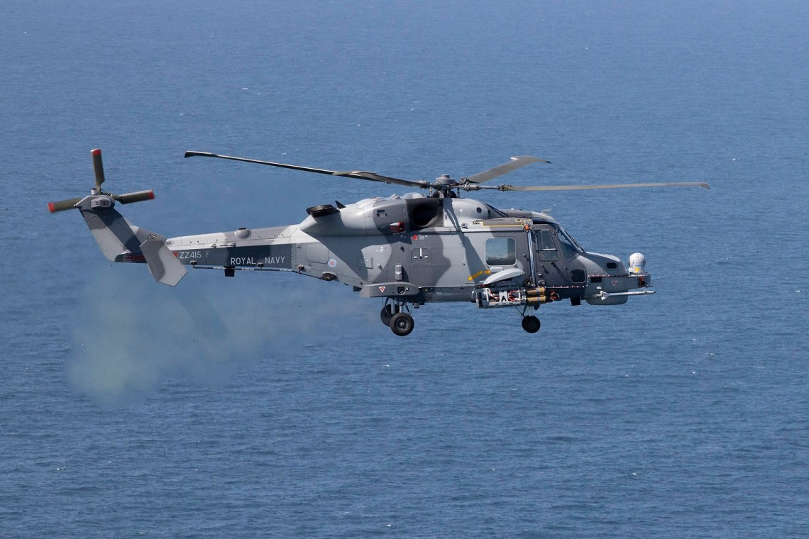 Royal Navy Wildcat Helicopter Unleashes New Martlet Missile to Protect Aircraft Carriers