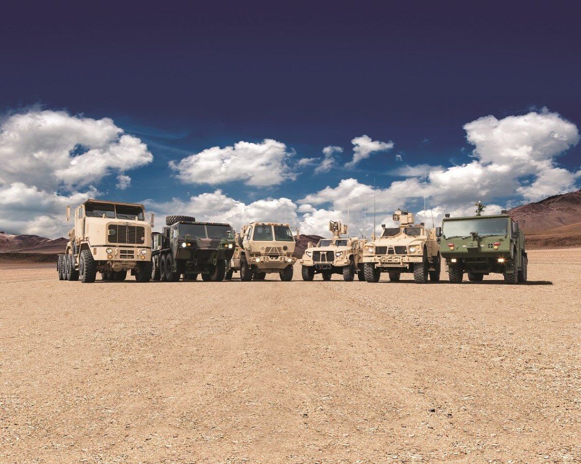 Oshkosh Defense's family of medium tactical vehicles.