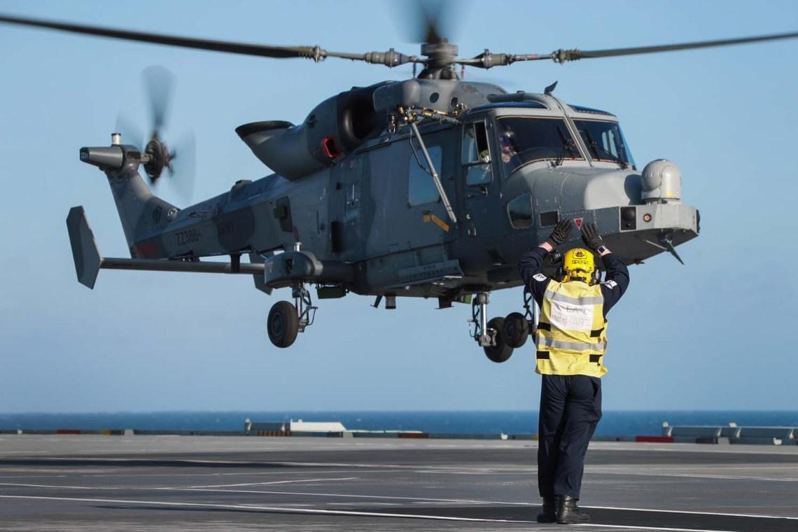 Royal Navy Commando Wildcat Helicopter Debuts on HMS Queen Elizabeth