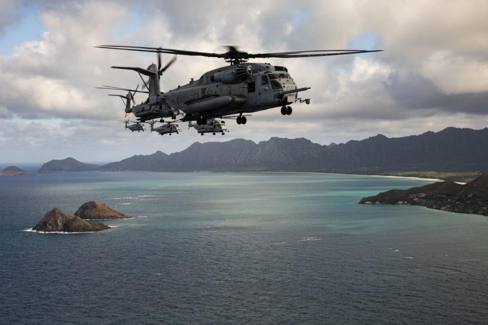 U.S. Marine Corps Conducts Mass Air Assault Training