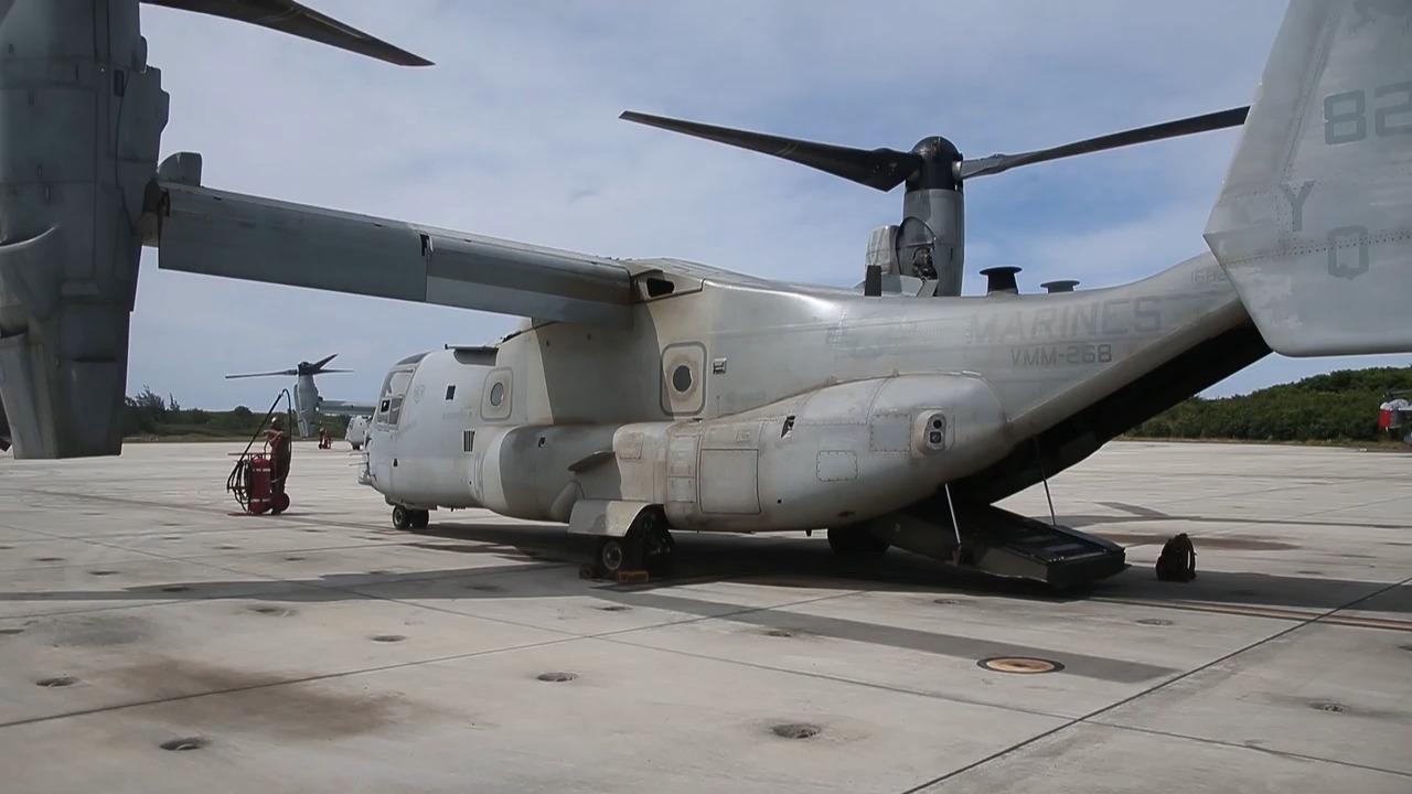 U.S. Marines MV-22 Osprey Showcase GAU-17 Minigun