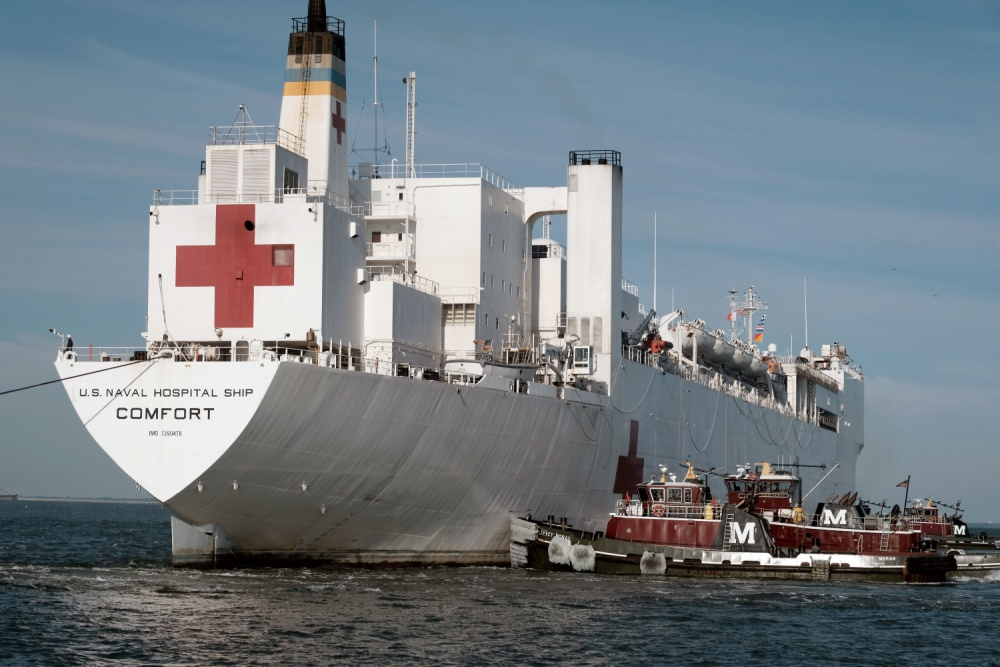 US Navy USNS Comfort Arrives at Naval Station Norfolk Prepared for Future Tasking