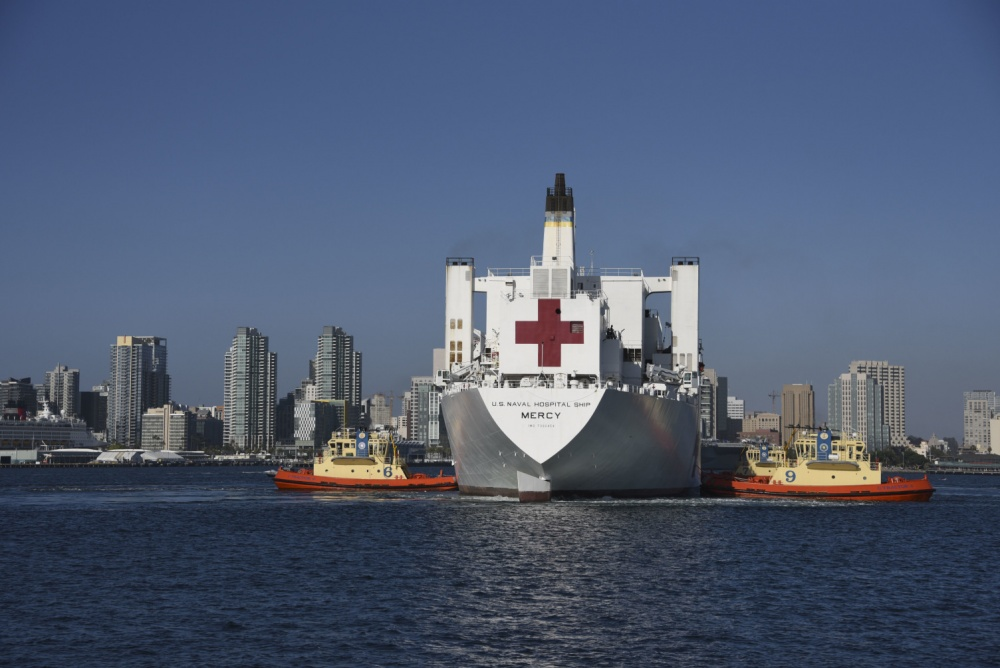 US Navy USNS Mercy Arrives to Naval Air Station North Island, Prepared for Future Tasking