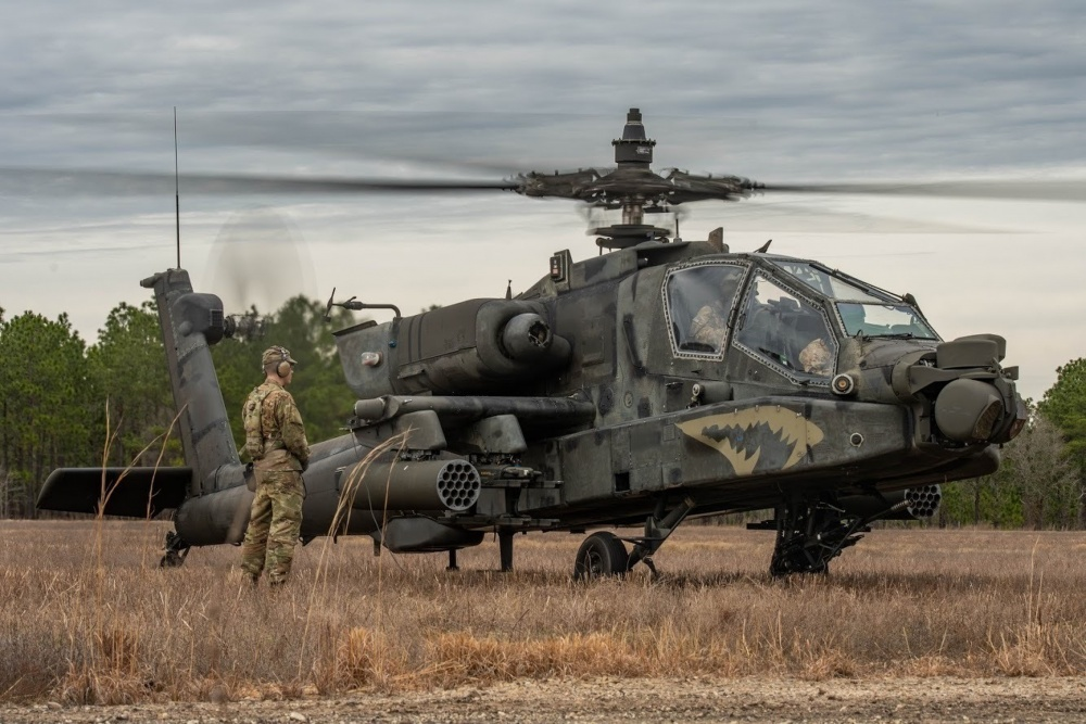 U.S. Army AH-64E Apache attack helicopter