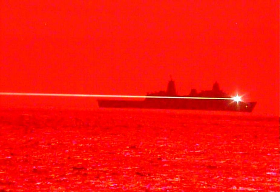 USS Portland Conducts Laser Weapon System Demonstrator Test