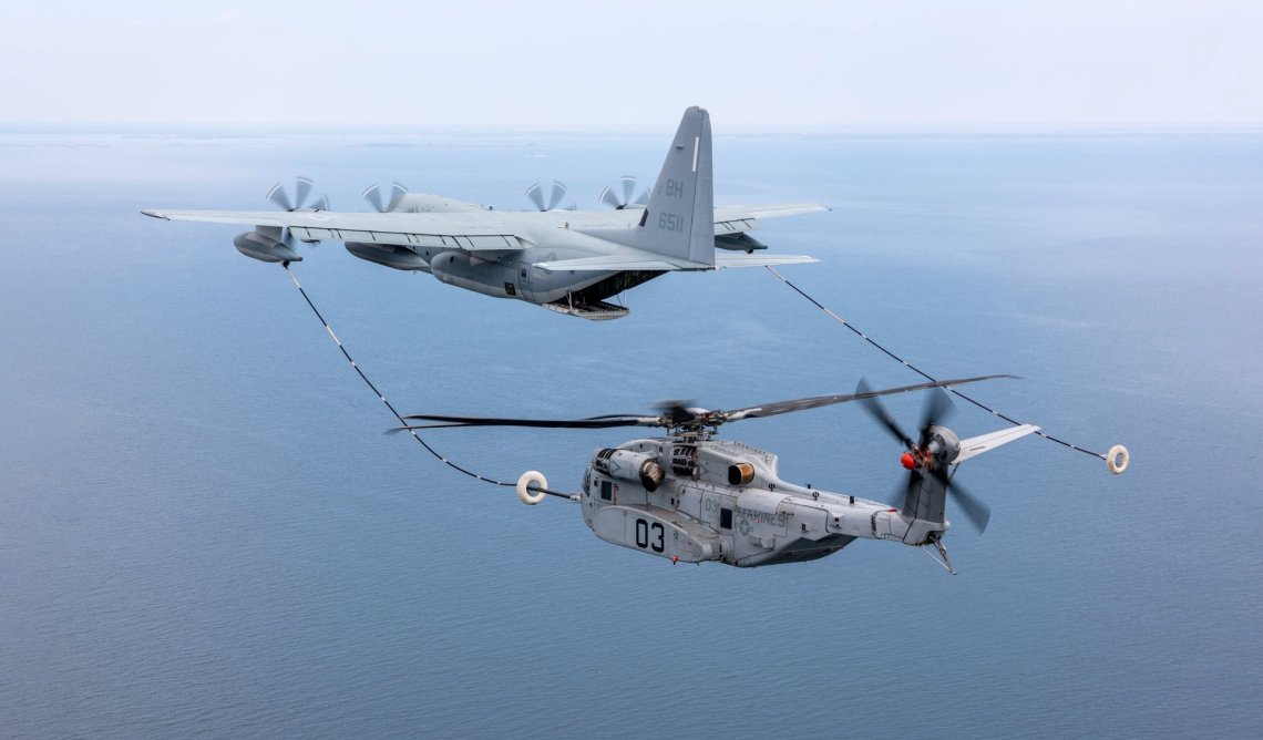 CH-53K Masters the Art of Inflight Refuelling with KC-130J