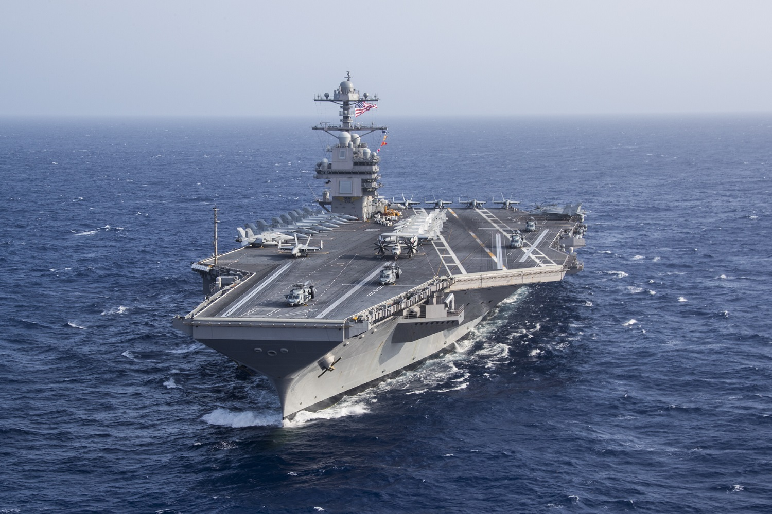 USS Gerald R. Ford Completes Largest Aircraft Embark
