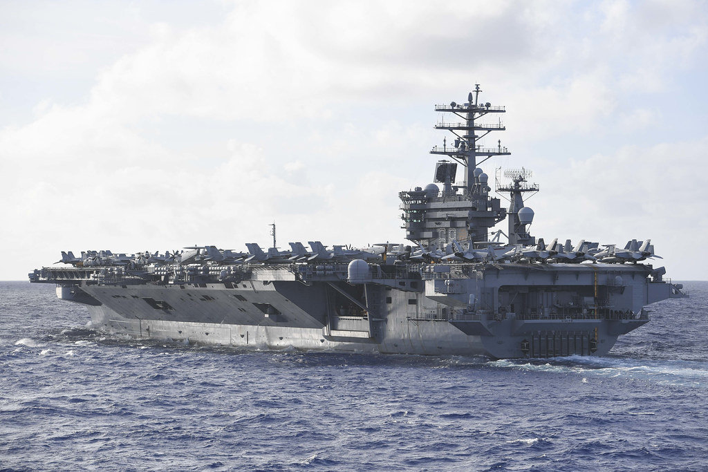Nimitz and Ronald Reagan Carrier Strike Groups Operate Together in the Philippine Sea