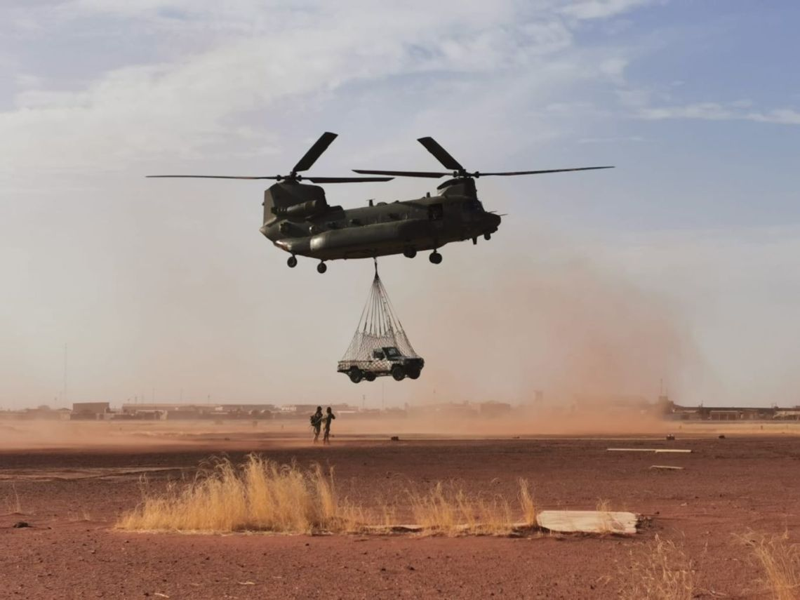 Royal Air Force Helicopters Deployment in Mali Has Extended (Royal Air Force/FL Claire Mitchell)