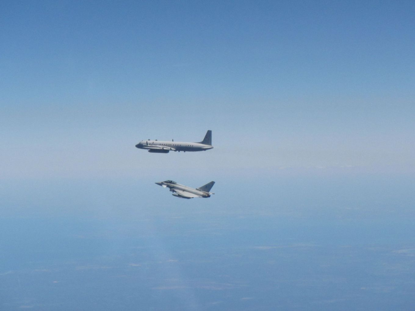 RAF Typhoons Scrambled In Lithuania To Intercept Russian IL-20 COOT ISR Aircraft
