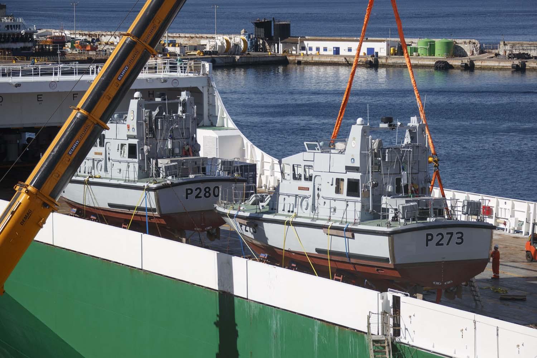Royal Navy HMS Pursuer and Dasher Patrol Boats Prepare to Gibraltar