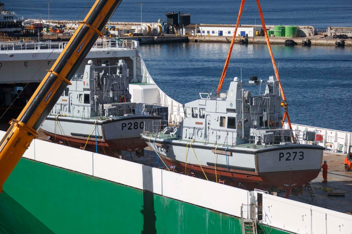 Royal Navy HMS Pursuer and Dasher Patrol Boats Prepare to Gibraltar