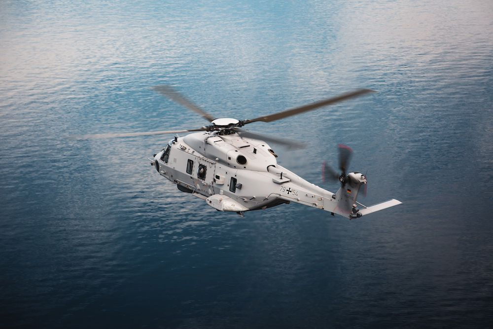 German Navy NH90 Sea Lion Maritime Helicopter