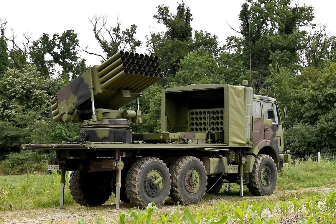 Serbia Armed Forces Modernized Oganj Multiple Rocket Launcher