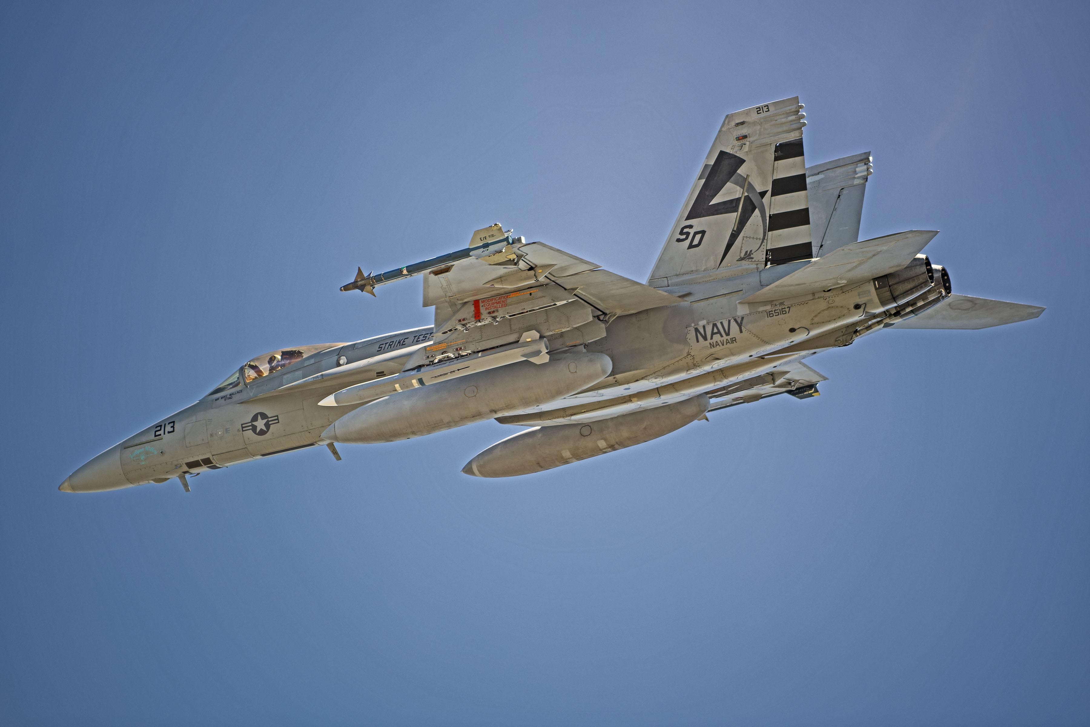 U.S. Navy Completes First AARGM-ER Captive Carry Flight on F/A-18 Super Hornet