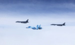 US Air Force B-1s integrate with Ukraine Aircrafts for First Time