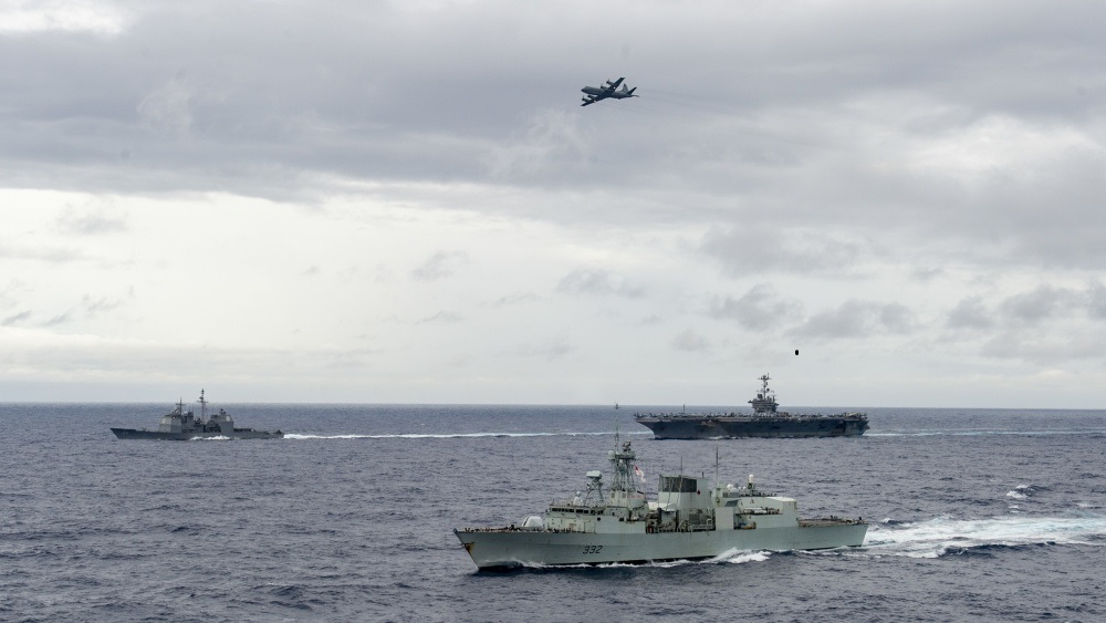The Harry S. Truman Carrier Strike Group (HSTCSG) remains at sea in the Atlantic Ocean as a certified carrier strike group force maintaining maritime stability and security, ensuring access, deterring aggression and defending U.S., allied and partner interests in support of USNORTHCOM's top priority of homeland defense.