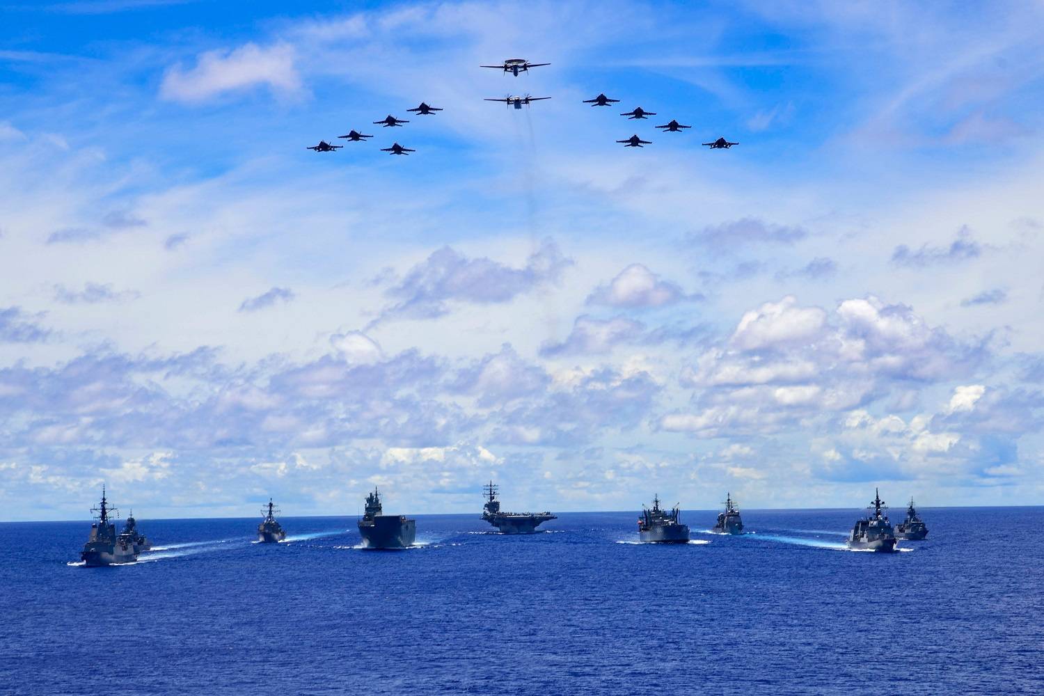 Australia and Japan Join US Navy for Trilateral Naval Exercise in the Philippine Sea
