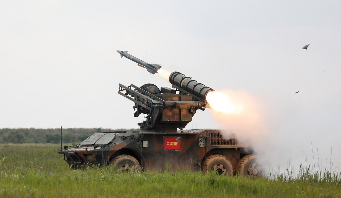 PLA 73rd Group Army launches a surface-to-air missile