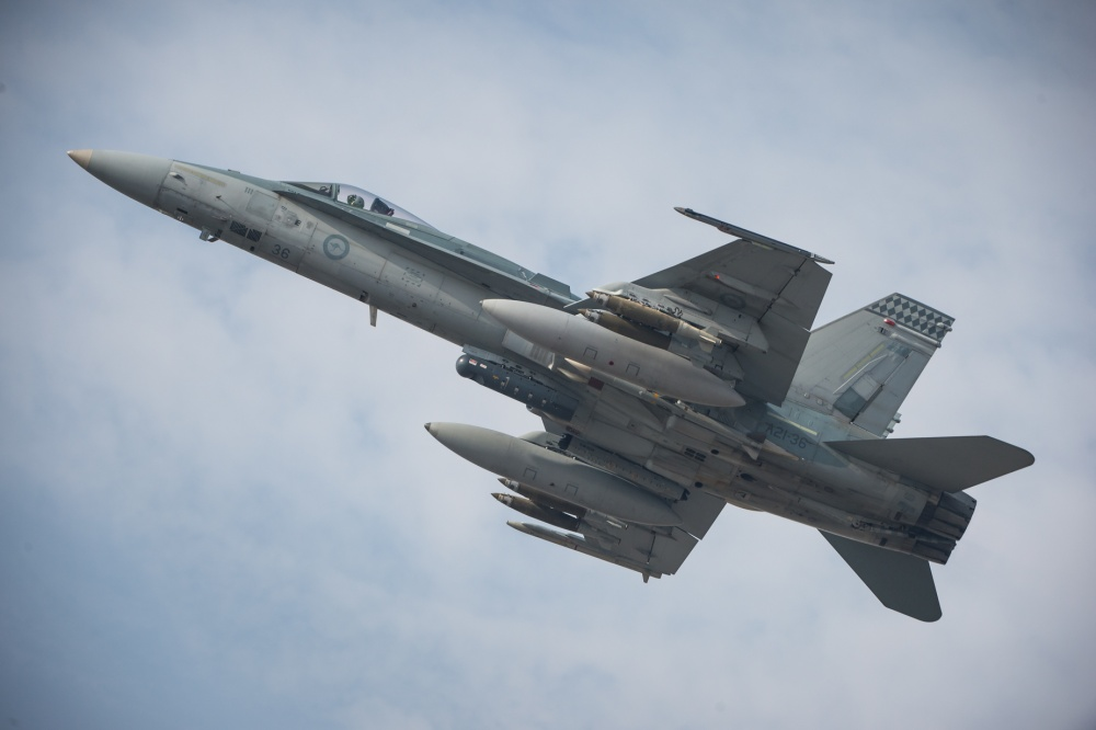 Royal Australian Air Force F/A-18A Hornet Multirole Fighter
