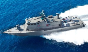 Shaldag-class patrol boat with Spike surface to surface missiles