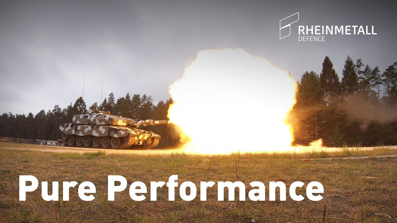 Rheinmetall Tests of New 130 mm Smoothbore Gun