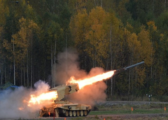 Rostec Demonstrated TOS-1A Heavy Flamethrower Capabilities to Foreign Customers