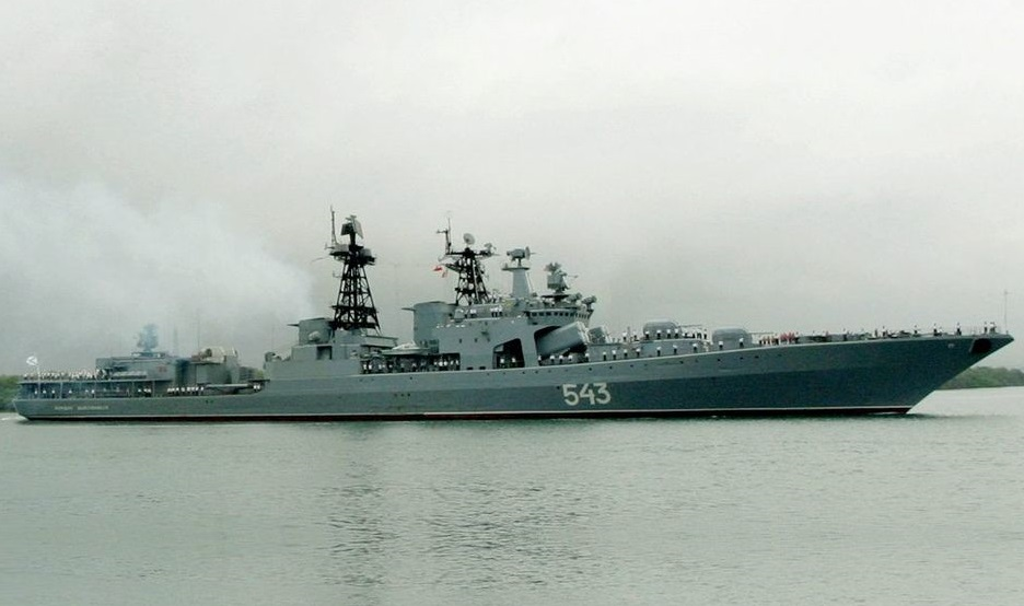 Russian Navy Upgraded Destroyer Marshal Shaposhnikov Headed to Japan Sea for Testing
