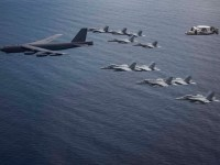 US Air Force Sends B-52 Bomber Over South China Sea as PLAN Steps-up Naval Drills