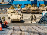 US Army 1-5 CAV Conducts Port Operations in Constanta, Romania