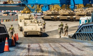 US Army 1-5 CAV Conducts Port Operations in Constanta, Romania