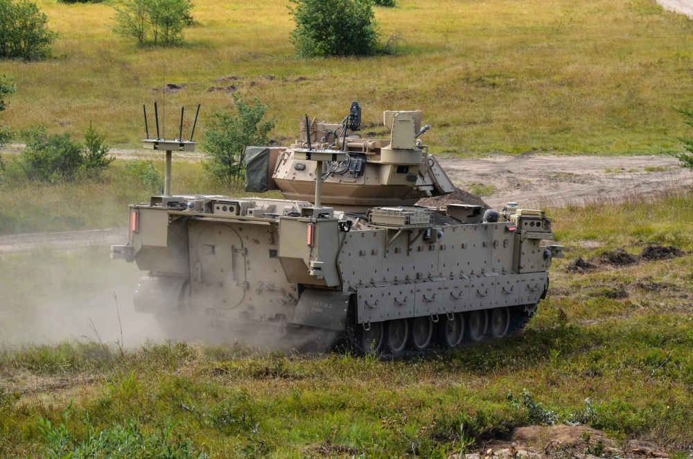 US Army GVSC and NGCV CFT Conducting Robotic Combat Vehicle Soldier Operational Experiment