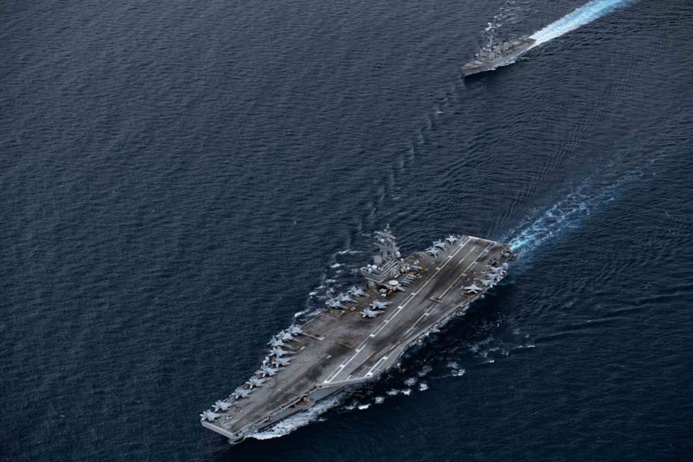 US Navy Ronald Reagan Carrier Strike Group Provides High-End Support in South China Sea