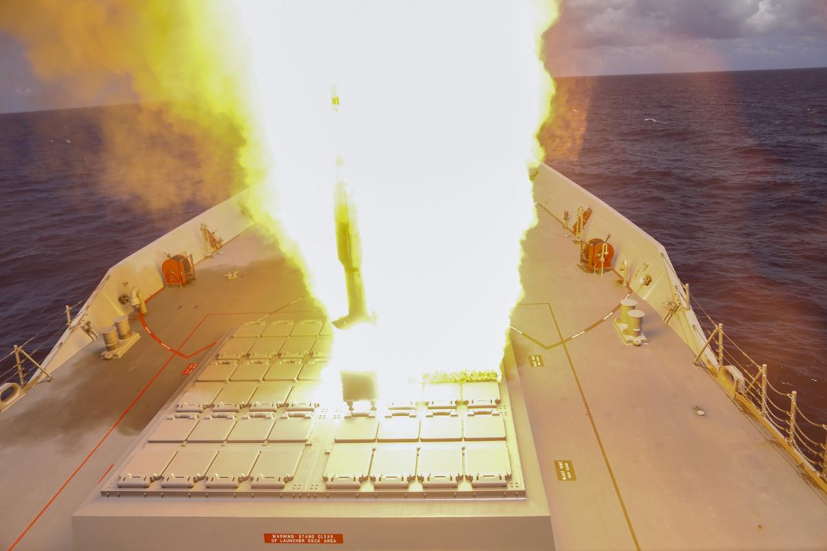 Australia's First Hobart-Class Guided Missile Destroyer to Fire Missiles at Rimpac