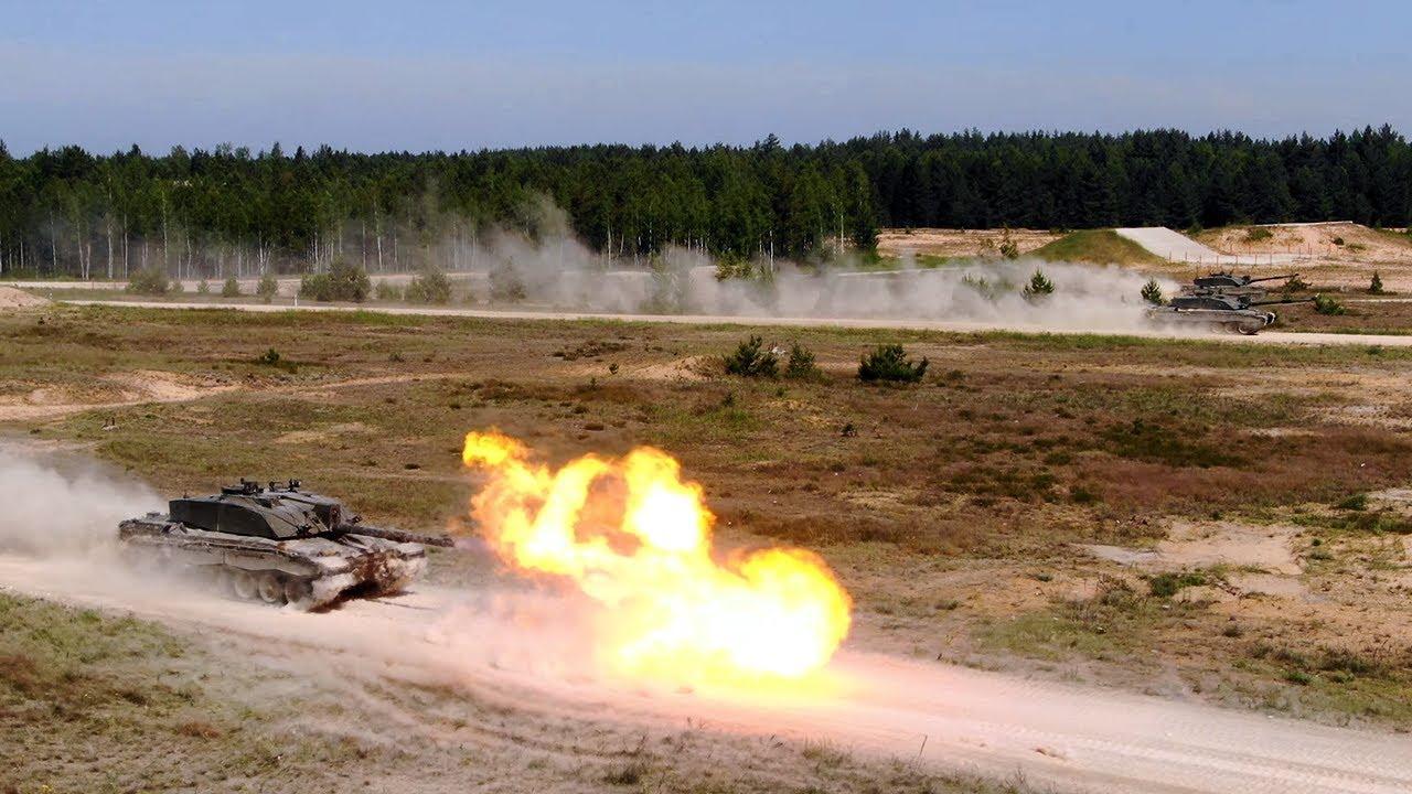 British Army Troops from NATO eFP Battlegroup Estonia Train in Latvia