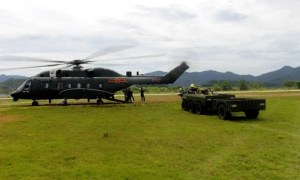 Chinese People's Liberation Army Unveils Z-8L 15 Ton-Class Transport Helicopter