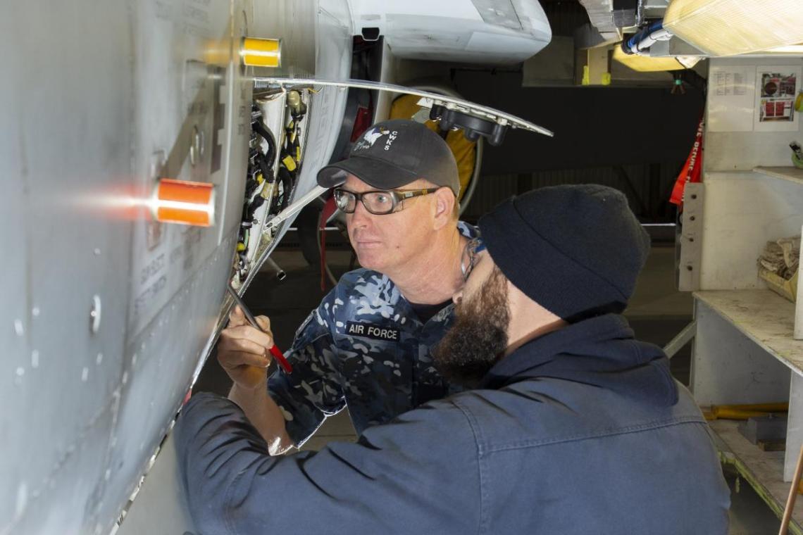 Final Royal Australian Air Force F/A-18 Classic Hornet Completes Deep Maintenance