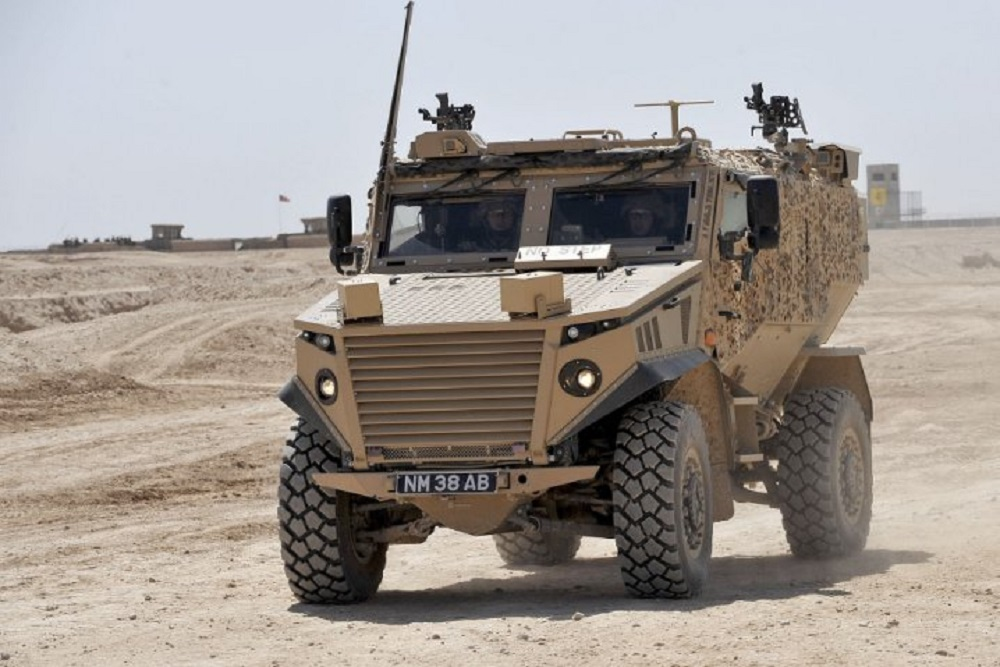 General Dynamics Land Systems–UK Foxhound LPPV with a hybrid electric drive for trials purposes.