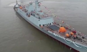 Hudong Zhonghua Shipyard Launches 1st Type 054 A/P Frigate For Pakistan Navy