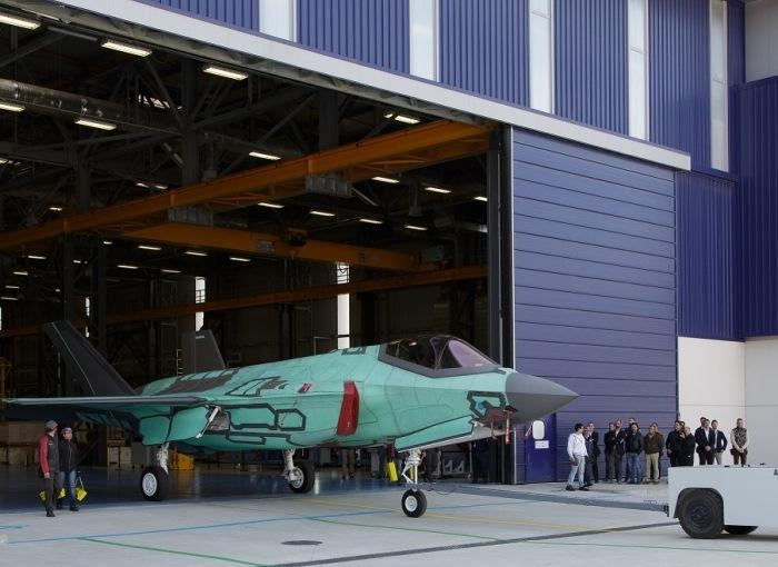 The first Italian F-35A Lightning II rolled out from the Cameri, Italy, Final Assembly & Check-Out (FACO) facility.