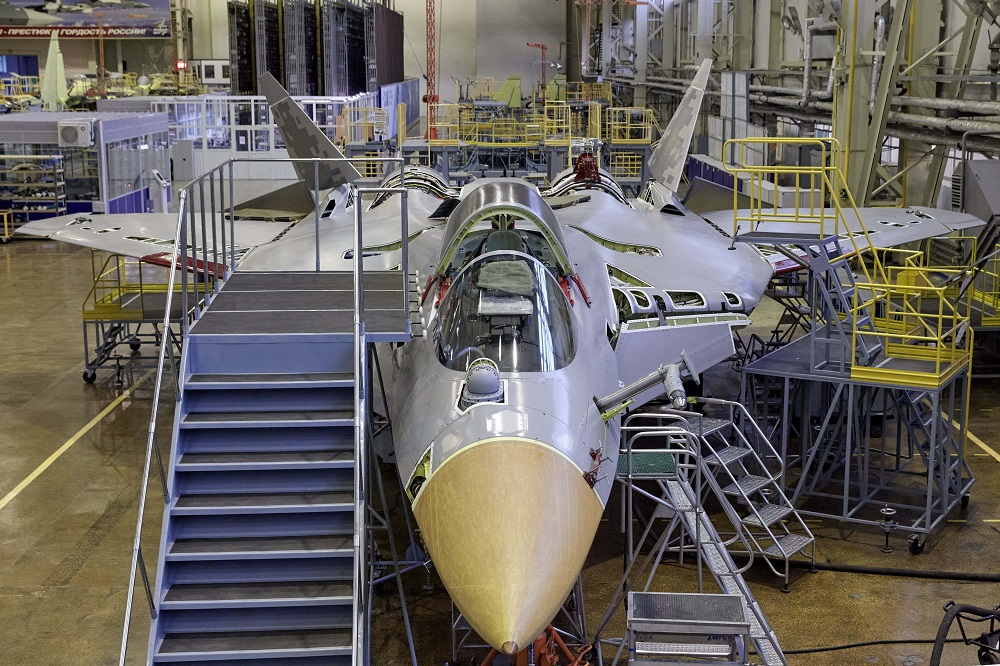 KnAAZ Plant Being Prepared for Production of Russian Su-57 Stealth Fifth-Generation Fighter
