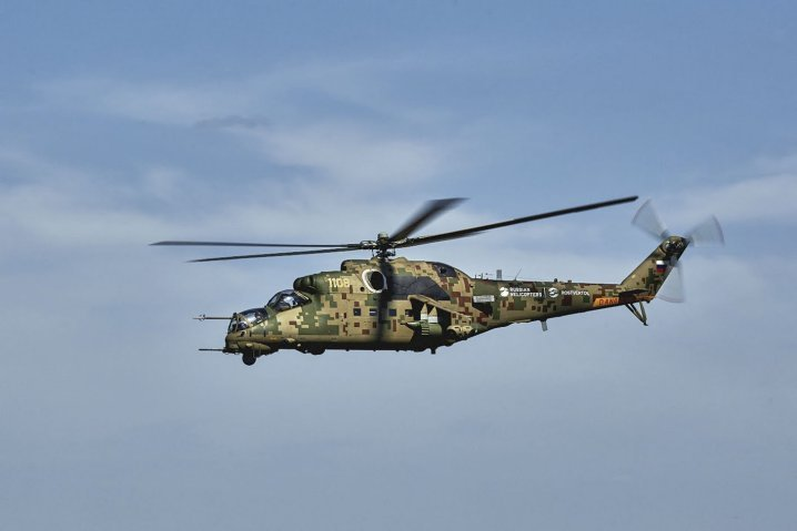 Russian Helicopters Mi-35P Attack Helicopter