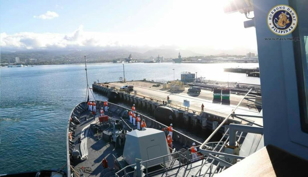 Philippine Navy BRP Jose Rizal Arrives in Hawaii for RIMPAC 2020