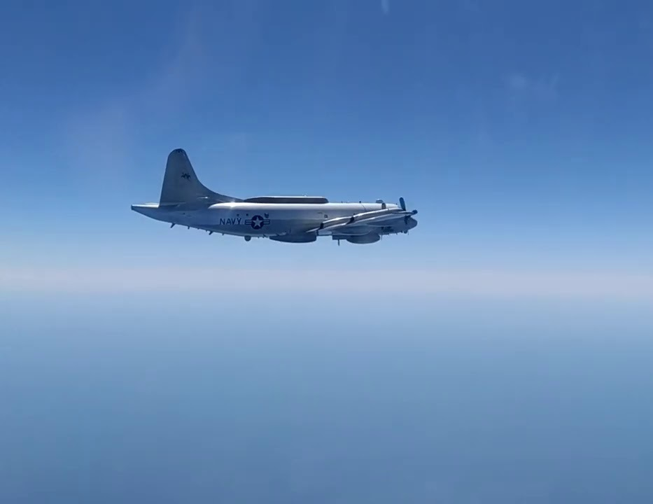 Russia's Sukhoi Su-27 Scrambled to Intercept US Navy EP-3E Aries over Black Sea