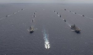 Ships Participating in RIMPAC 2020 Conduct a Group Sail Off the Coast of Hawaii