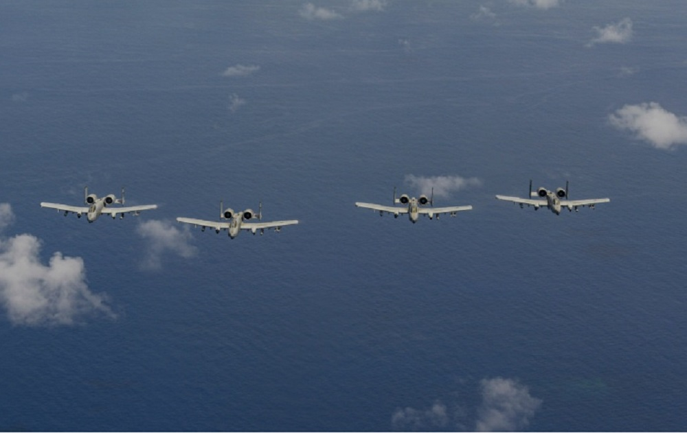 US Air Force 25th Fighter Squadron Warthogs Fly on Guam