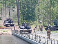 US Army 69th Armored Regiment Reserve Engineer Unit Conduct Battalion-Level Water Crossing