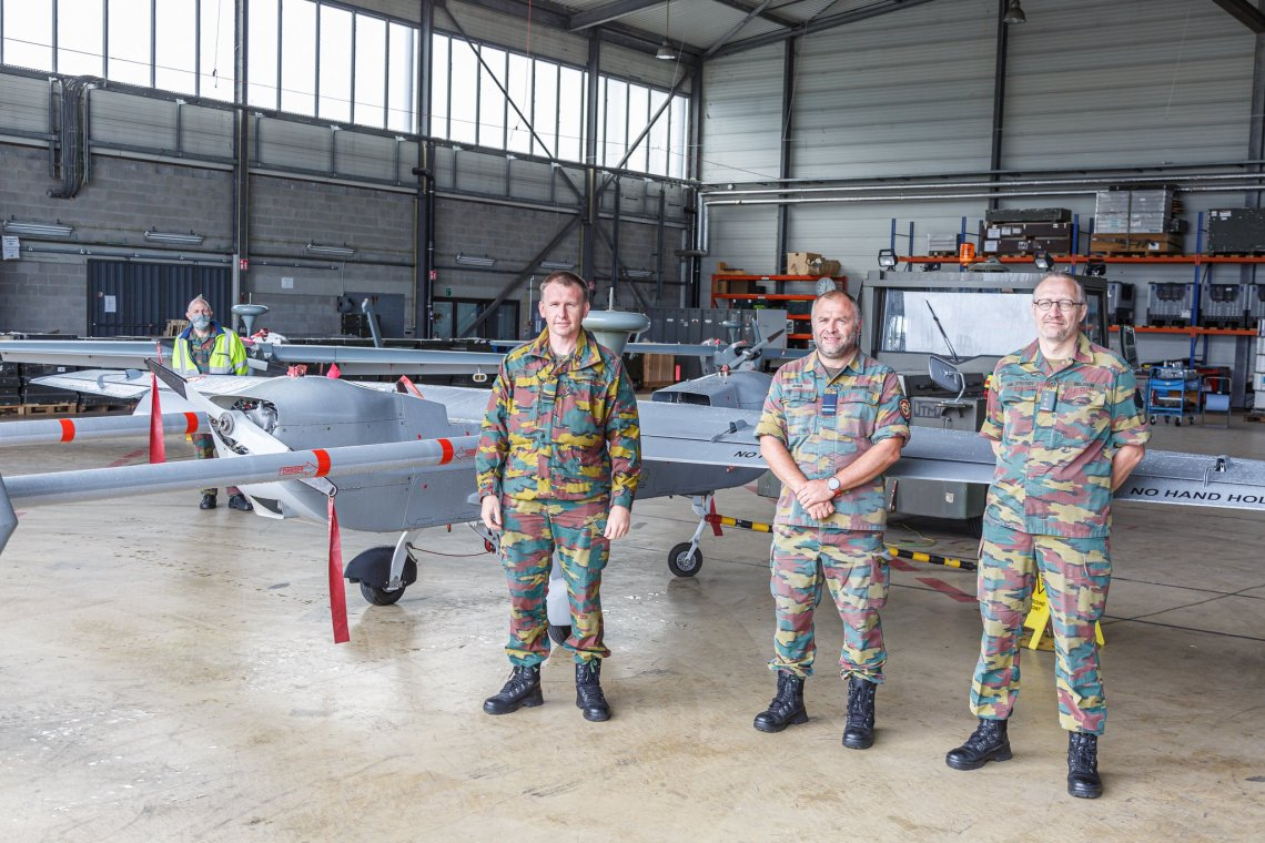 Belgian Air Component Retires B-Hunter Unmanned Aerial Vehicle