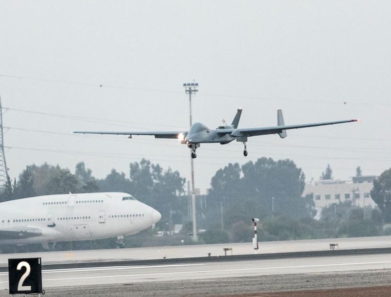 Israel Aerospace Industries Heron is First UAV to Land at Ben Gurion International Airport