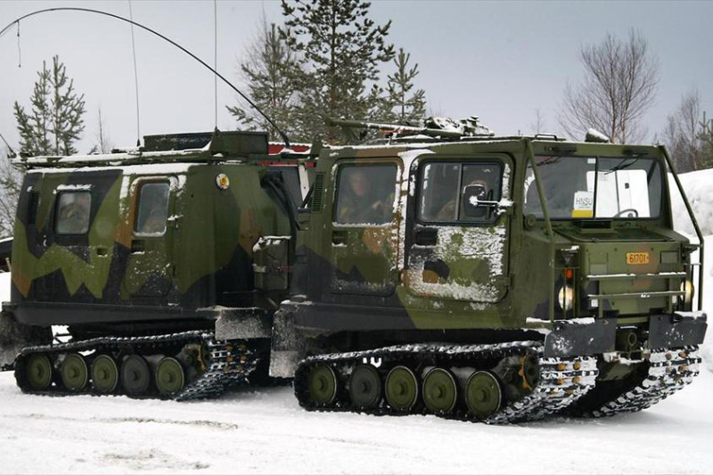 The Bandvagn 206 articulated tracked armored vehicles in service with the Dutch military will be replaced from 2024 by a new vehicle being jointly developed for Germany, the Netherlands, the United Kingdom and Sweden. foto: Een Noorse Band Vagon (BiVi) transport voertuig.